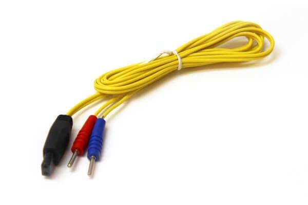 Elektrodenkabel für UROstim (Stecker-Typ 5, 1,2 m, gelb)