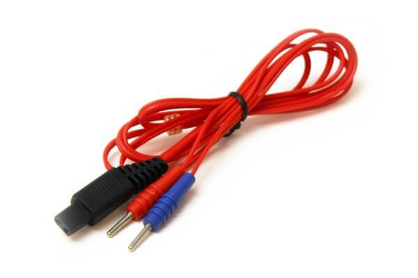 Elektrodenkabel für UROstim (Stecker-Typ 5, 1,2 m, rot)